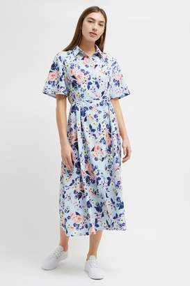 French Connection Cerisier Crepe Midi Shirt Dress