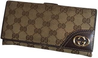 Gucci Beige Cloth Wallets