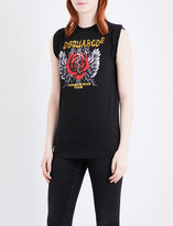DSQUARED2 Long Cool Twisted-fit cotton-jersey T-shirt