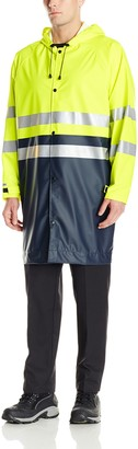 JOBMAN Workwear Men's High Visibility Rain Jacket