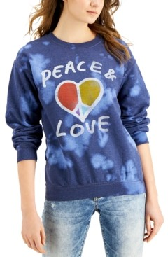 Junk Food Clothing Peace & Love Cotton Tie-Dye Sweatshirt