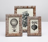 The Well Appointed House Pigeon & Poodle Austin Hair-on-Hide Pony and Gray Picture Frame-Available in Three Different Sizes