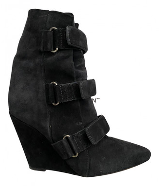 Isabel Marant Anthracite Suede Boots