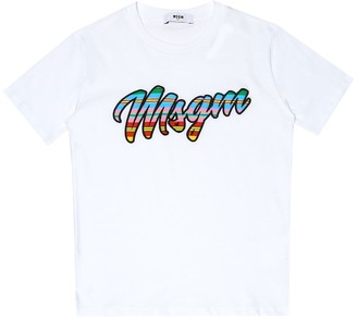 Msgm Kids Logo cotton T-shirt