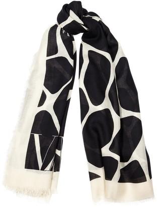 Valentino cashmere-blend scarf