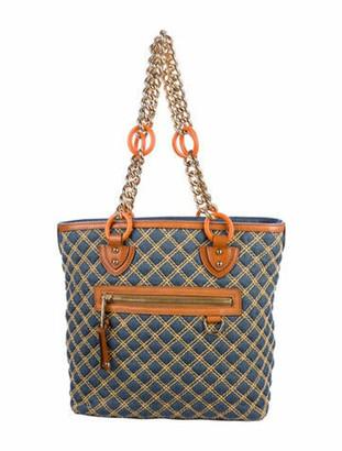 Marc Jacobs Denim Chain-link Shoudler Bag Blue