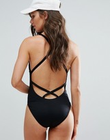 Polo Ralph Lauren Plunge Strappy Swimsuit