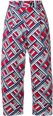 Carven geometric print trousers