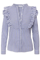 Anine Bing Eliza Blouse Blue Stripe