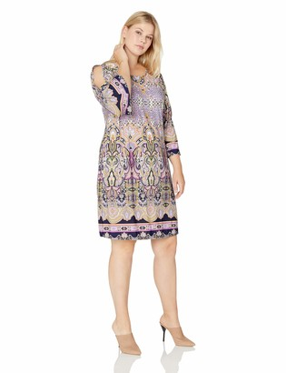 Tiana B T I A N A B. Women's Size Plus All Over Printed Jersey a-line Dress