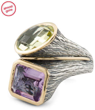 Made In Portugal 14k And Sterling Silver Gemstone Ring
