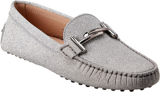 Tod's Double T Glitter Leather Loafer