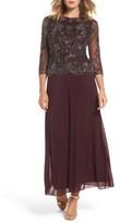 Pisarro Nights Women's Embellished Bodice Overlay Gown