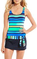Jag Caribbean Sunset Stripe Swim Dress