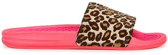Athletic Propulsion Labs Iconic Leopard-print Calf Hair Sliders