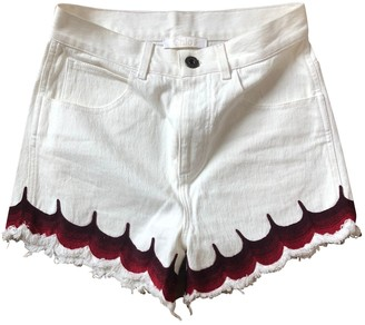 Chloé White Denim - Jeans Shorts for Women