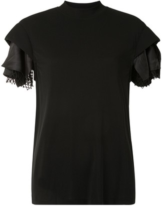 Toga layered sleeve slim-fit T-shirt