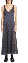 R 13 Leopard Side Stripe Star Print Silk Maxi Dress