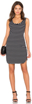 Bobi Cashmere Terry Stripe Midi Tank Dress