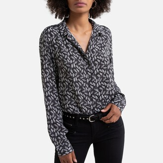 Freeman T. Porter Fluid Leaf Print Blouse