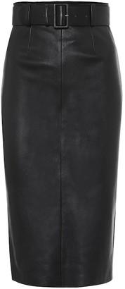 STOULS Megan leather midi skirt