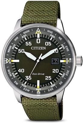 Citizen Men's Standard Nylon Eco-Drive Watch, 42mm
