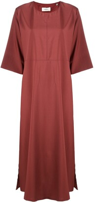Barena Bell-Sleeve Wool Midi Dress