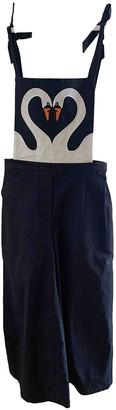 VIVETTA Blue Cotton Jumpsuits