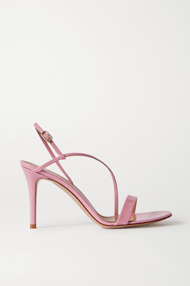 Gianvito Rossi Manhattan 85 Patent-leather Sandals - Pink