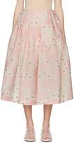 Simone Rocha Pink Floral Cloqué Skirt