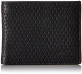 John Varvatos Men's Perforated Leather Slim Bifold Wallet