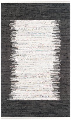 Safavieh Montauk Ivory & Black Ikat Cotton Rug