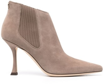 Jimmy Choo Rear Zip Pointed Boots