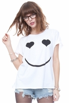 Local Celebrity Nice Day Schiffer Tee in White