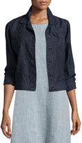 Eileen Fisher Organic Linen Jean Jacket, Denim, Petite