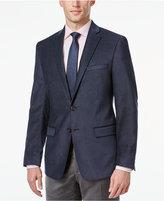 Calvin Klein Men's Slim-Fit Navy Velvet Micro-Grid Sport Coat