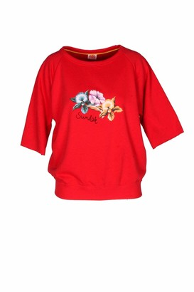 Sundek Full Sleeve Print Sweatshirt Made in Italy - Red - S