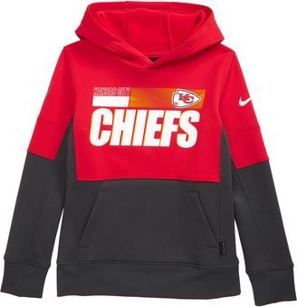 Nike Kids' Dri-FIT Therma NFL Logo Kansas City Chiefs Hoodie