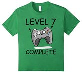 Kids Gamer Birthday Shirt 7-Level 7 Complete Birthday Boy's Shirt