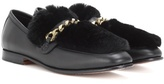 Boyy Loafur leather and fur loafer