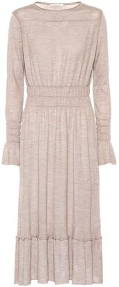 Agnona Wool, silk and cashmere-blend dress