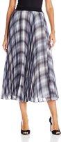 Rebecca Taylor Women's Shadow Plaid Pleat Skirt