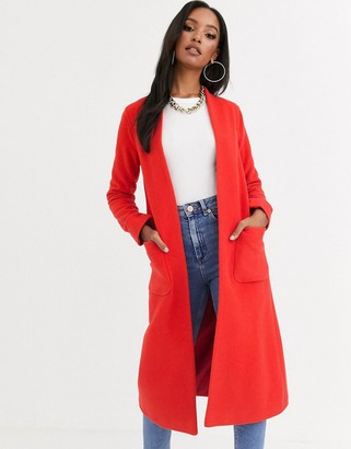 Helene Berman Edge to Edge duster coat in wool blend