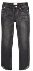 Hudson Alani Ankle Crop-23 Frayed Tulip Hem Jeans