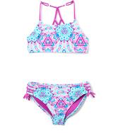Vigoss Purple Cactus Ziggy Ladder-Back Bikini - Girls