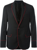 Lanvin ribbon trim blazer - men - Cupro/Wool - 48