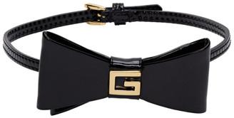 Gucci Black Patent Bow Choker