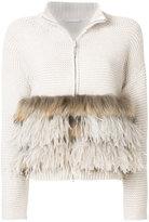 Fabiana Filippi zipped fur sweater