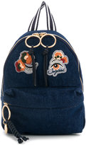 See by Chloe embroidered patch backpack