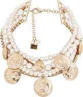 Rosantica Mixed Pearl And Coin Statement Necklace